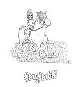 Fun Stuff  Star Stable Online Ride Through sketch template