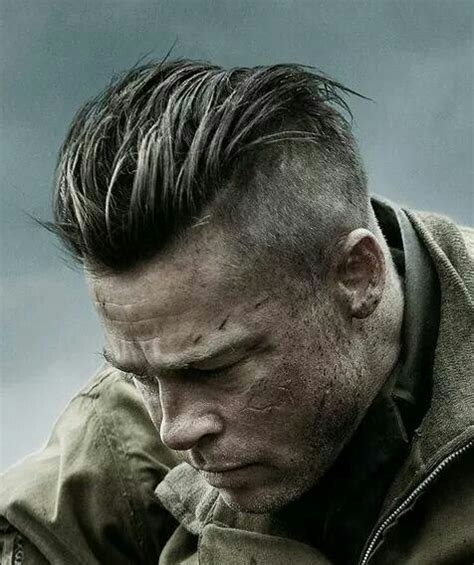 army haircut fury brad in fury hair pinterest tutoriales socavado y
