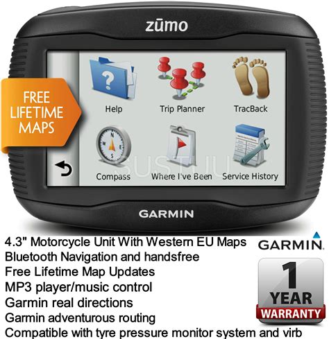 garmin us europe map garmin zumo 345lm uk w europe gps satnav motorcycle bike