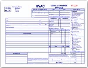hvac quote template hvac invoice forms quotes
