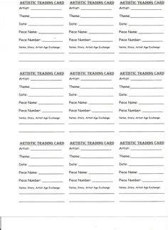 Artist Trading Cards Back Template by Artist Trading Card Template This Template For