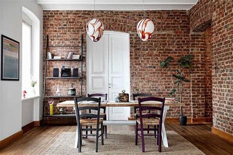 50 daring and inventive dining rooms with brick walls