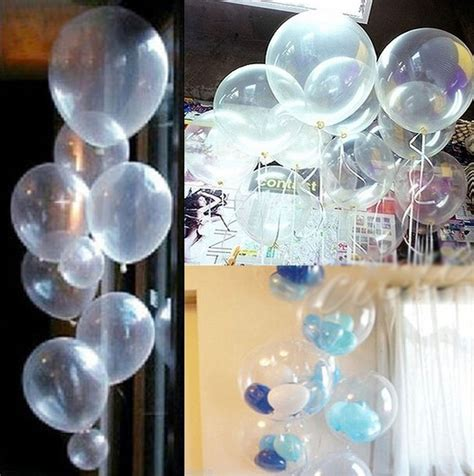 imagenes de globos latex 50 globos latex cristal transparentes decoraci 243 n helio