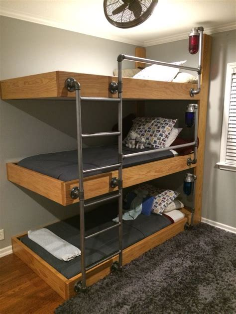 triple loft bunk bed conserving space and staying trendy with triple bunk beds