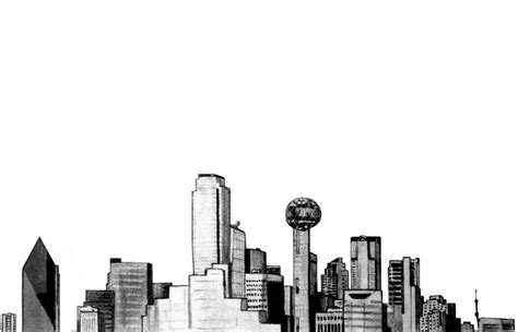 dallas skyline by houstontxartist on deviantart