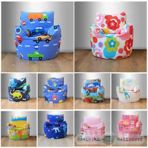 Patchwork Armchairs Childrens Character Filled Beanbag Kids Bean Bag Chair
