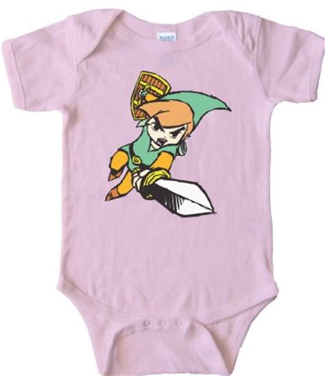 Link legend of zelda blue and pink geek baby clothes