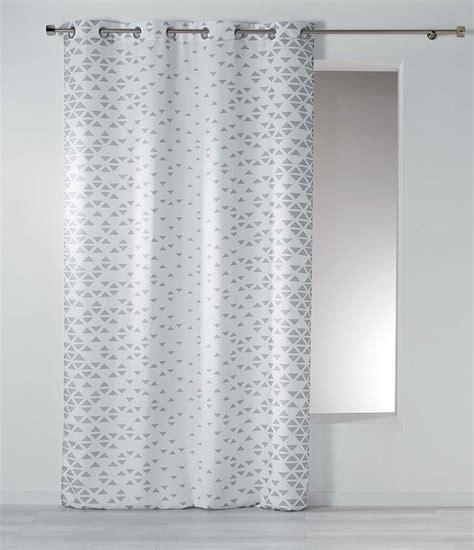 Rideaux Blanc Et by Rideau Esprit Scandinave Blanc Taupe Homemaison