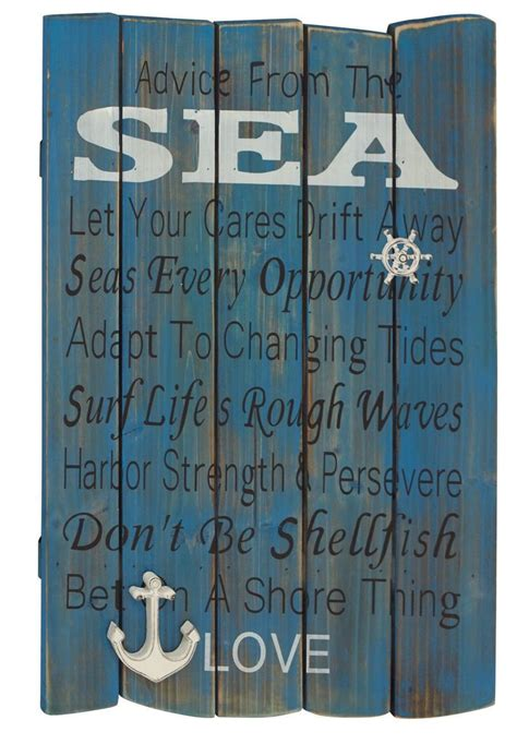 nautical decor wreath inspired by lunenburg nova scotia quot sea love quot blue polished fascinating wood wall plaque