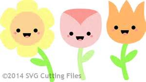 Fall Cards To Make - kawaii flowers svg cutting file
