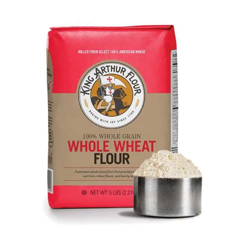 whole grains flour king arthur premium 100 whole wheat flour 5 lb