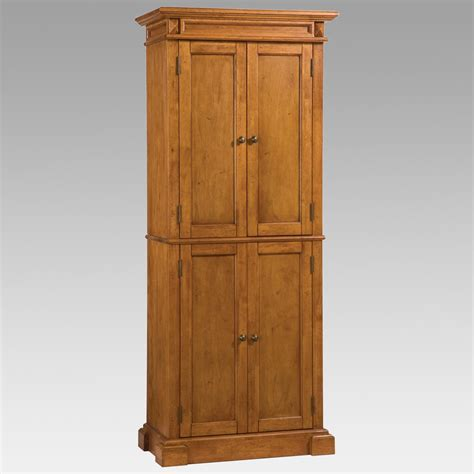 Wood Pantry Cabinet by Home Styles Americana Solid Hardwood Cottage Oak Finish