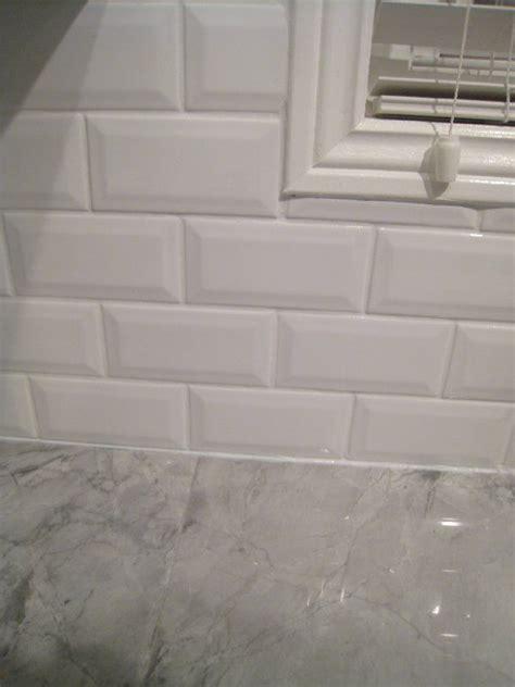 beveled subway tile interior groupie kitchen reveal part 3 the backsplash kitchen ideas