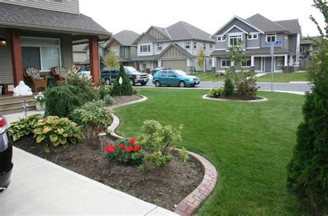 low maintenance front lawn landscaping ideas garden post