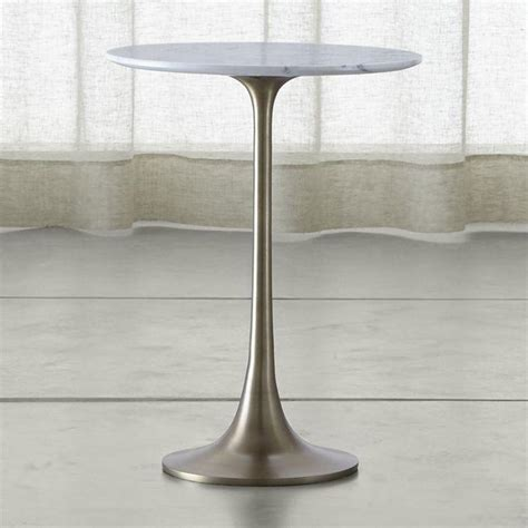 small white accent table white marble pedestal accent table