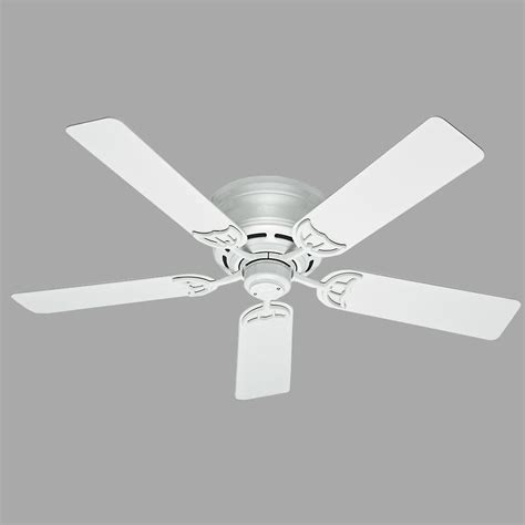 home depot low profile ceiling fans low profile iii 52 in indoor white ceiling fan