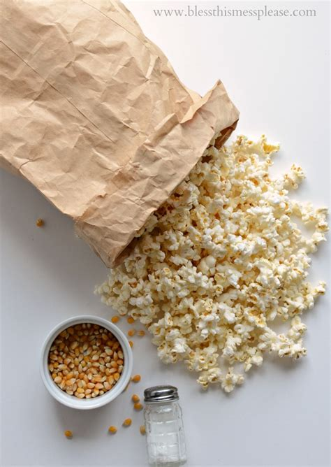 Popcorn In Brown Paper Bag - how to pop popcorn in a brown paper bag in the microwave