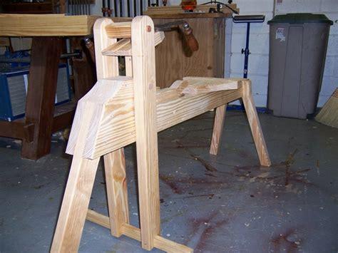 shaving horse finewoodworking