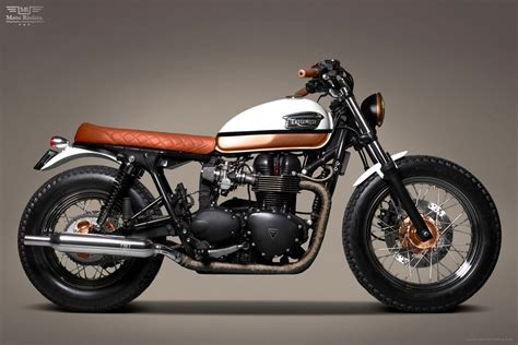 Handmade Cafe - custom triumph bonneville t100 2 moto rivista