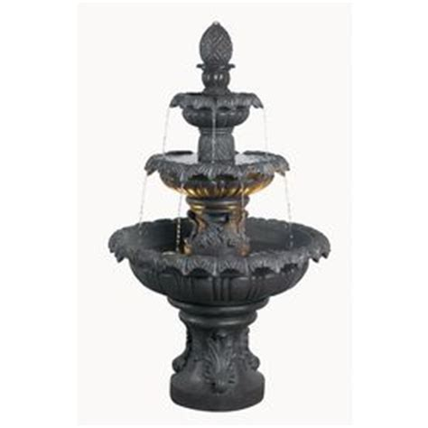 backyard fountains lowes shop kenroy home costa brava 46 in outdoor fountain at