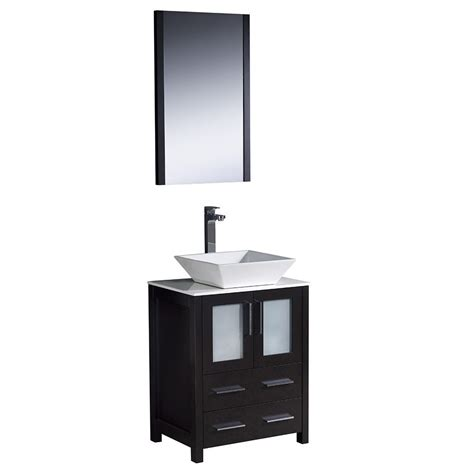 24 bathroom vanity with vessel sink fresca torino 24 inch espresso modern bathroom vanity with