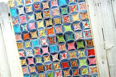 Denim Rag Quilt Pattern by Denim Circle Rag Quilt Recycled Quilt