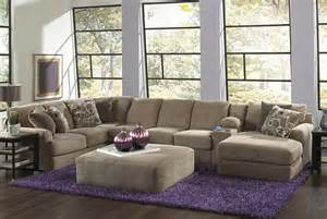 Large Sectional Sofa With Chaise Lounge Jackson Malibu Large Chaise Sectional Sofa With Entertainment Console Ottoman Taupe 3239