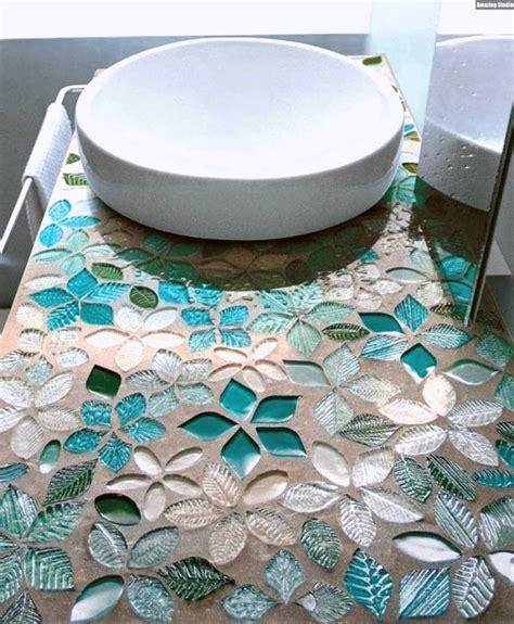 Mosaik Fliesen Muster by Mosaik Fliesen Badezimmer Waschtisch Florale Muster T 252 Rkis