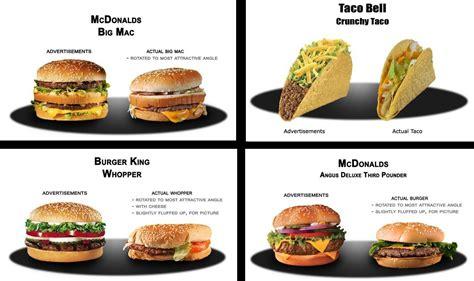 vs food fast food ads vs reality it s just justin