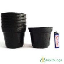 Pot Plastik 10 Cm Dan Tatakan pot bunga vanda 850 merah bata 12 pcs bibitbunga