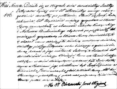 Poland Birth Records The Birth And Baptism Of Katarzyna Andruszkiewicz 1848