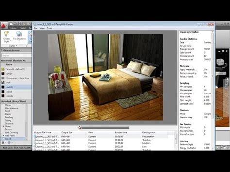 tutorial autocad rendering autocad rendering settings interior bedroom youtube