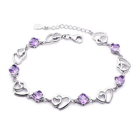 Gelang Perak 925 sterling gelang perak perempuan jantung ganda