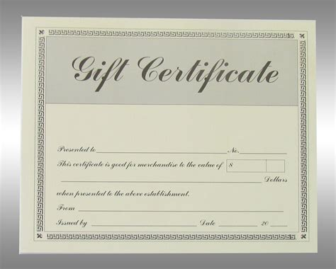 gift certificates gift certificate new calendar template site