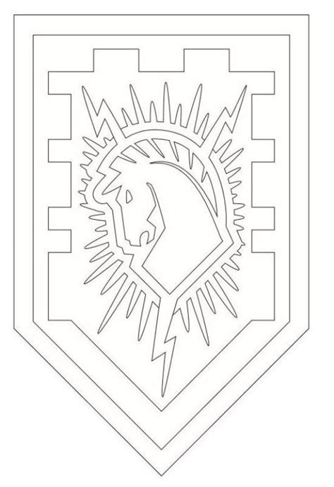 coloring pages knights shields 12 best images about nexo knights on pinterest lego