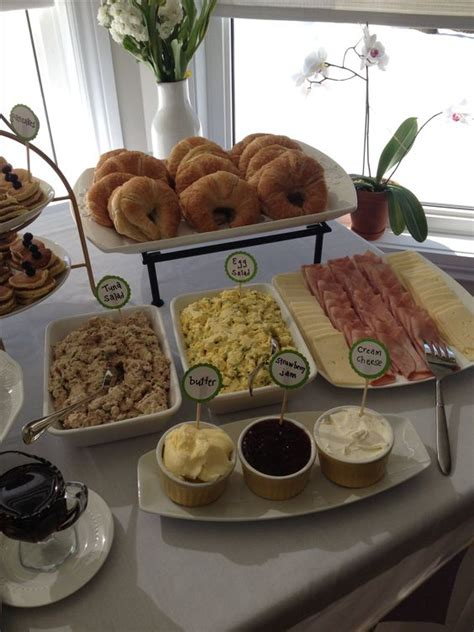 Baby Shower Lunch Ideas by Croissant Bar Great Baby Shower Brunch Or Lunch Idea