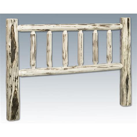 unfinished twin headboard montana woodworks twin log headboard unfinished 327201