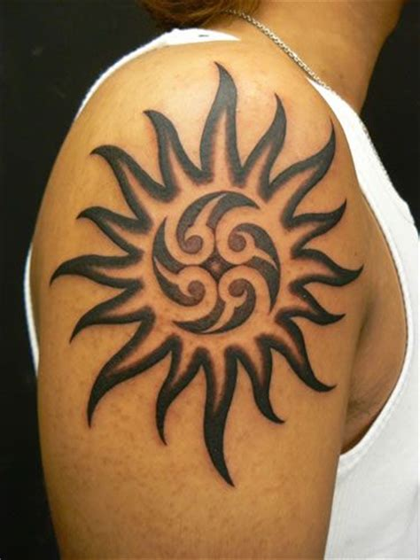 tribal sun shoulder tattoo 22 awesome tribal sun only tribal