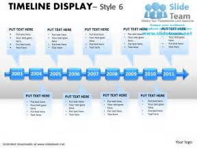 how to make abstract roadmap timeline display 5 power