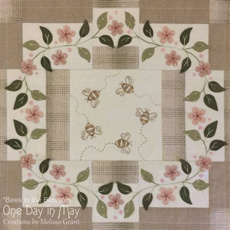Patchwork Teahouse - bees in blossom by one day in may the patchwork teahouse