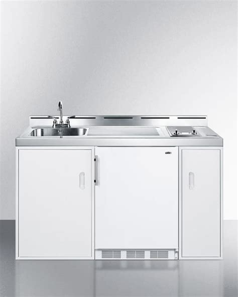 all in one kitchen sink and cabinet summit c60elglass0 60 inch combination kitchen with 2