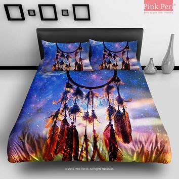 dreamcatcher bedding dream catcher and sunset clouds with from pink peri