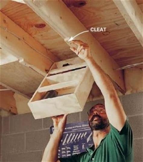 Garage Storage In Rafters Rafter Storage Workshop Ideas