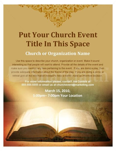 flyer template holy revival church scripture flyer template flyer templates