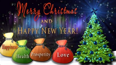 merry christmas  happy  year  wishes  animation greeting card youtube