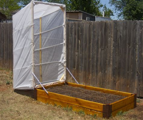 Raised Bed Square Foot Wood Planter Box With White Fabric