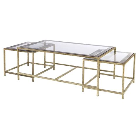 antique gold coffee interlude larissa mirrored coffee table with gold leaf