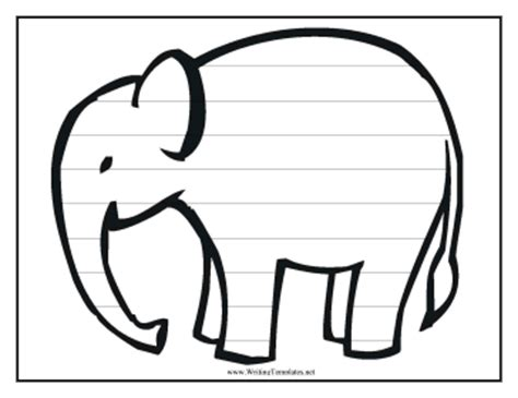 blank elephant template free printable elephant template