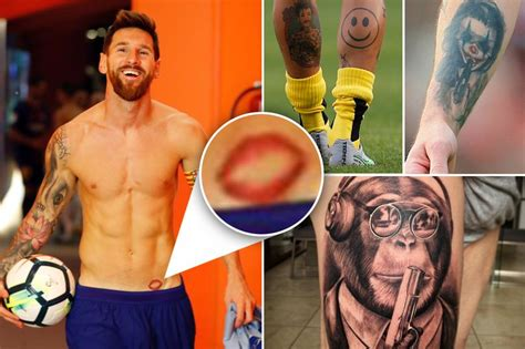 messi tattoo face the 20 most unusual footballer tattoos