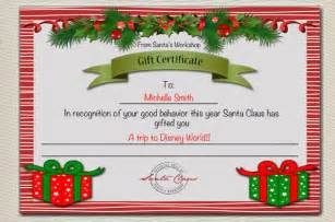 Santa Gift Certificate Template by Gift Certificate Template 11 Word Pdf